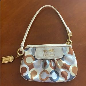 Satin Coach Wristlet multicolor